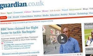 Guardian.co.uk screengrab - June 2009