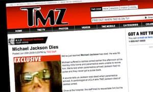 Michael Jackson death: TMZ website