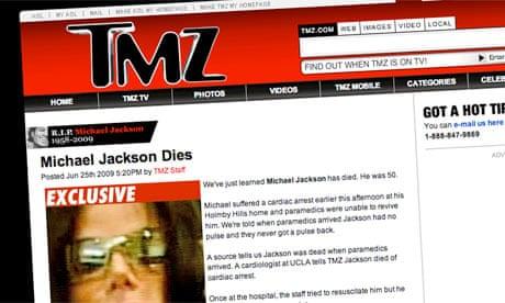 Michael Jackson How Celebrity Gossip Site Tmz Got Scoop Of The Decade Media The Guardian Recursos técnicos adecuados para una producción audiovisual de alta calidad. michael jackson how celebrity gossip