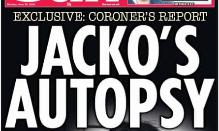 The Sun 'Jacko's autopsy' front page