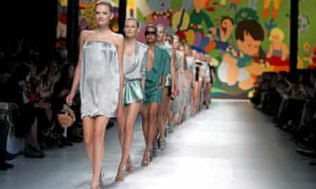 Models at Paris Fashion Week 2009