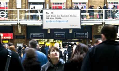 Google advert in Liverpool Street station