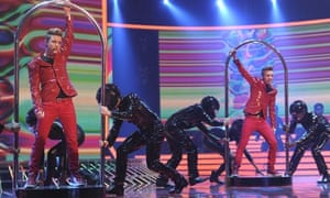 X Factor 2009: John and Edward perform Oops ... I Did It Again