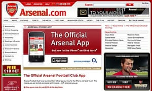 Arsenal iPhone app