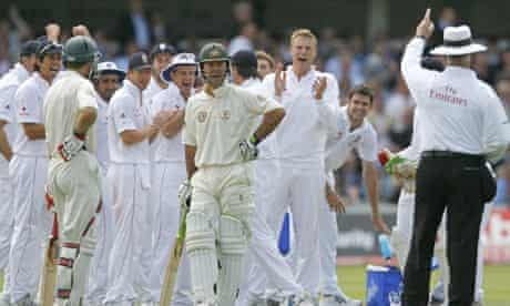 Ricky Ponting and the England team