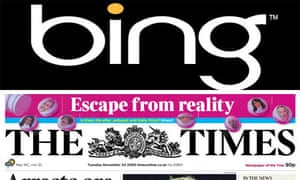Microsoft Bing and the Times montage