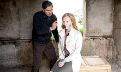 Spooks: Genevieve O'Reilly as Sarah Caulfield and Emil Hostina as Oleg Darshavin