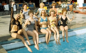 Manchester TV: The Coronation Street cast poolside in Majorca in 1974