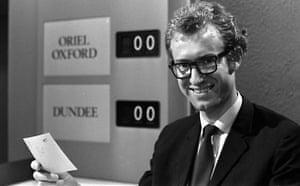 Manchester TV: Bamber Gascoigne hosting University Challenge in 1968