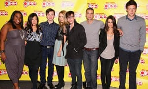 The cast of US hit musical show Glee