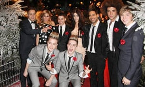 The X Factor contestants a the world premiere of Disney's A Christmas Carol
