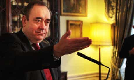 Alex Salmond at climate change meeting in Edinburgh