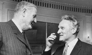 Cecil King, left, and Hugh Cudlipp