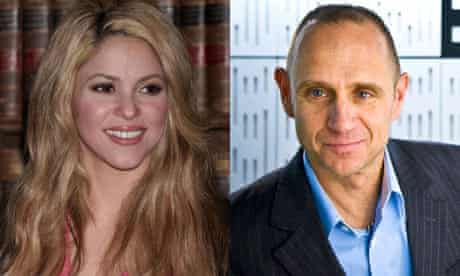 Shakira, left, and Evan Davis