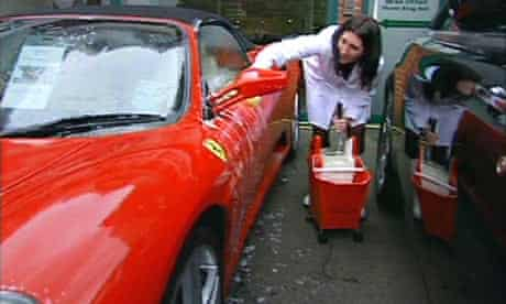The Apprentice 2009: Debra Barr washes a car