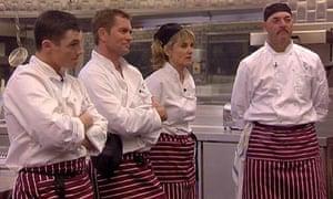 Hell's Kitchen: Jody Latham, Grant Bovey, Anthea Turner and Bruce Grobbelaar