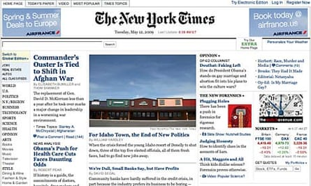 New York Times website