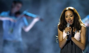 Jade Ewen during a rehearsal for the Eurovision Song Contest
