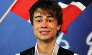 Eurovision Song Contest 2009: Alexander Rybak celebrates
