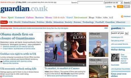 Guardian.co.uk front page
