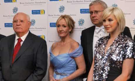 Mikhail Gorbachev, JK Rowling, Alexander Lebedev and Anastasia Virganskaya
