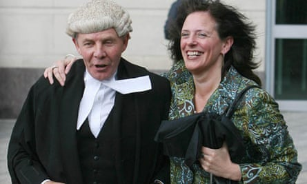 Suzanne Breen and her QC Arthur Harvey