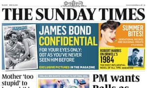 Sunday Times front page May 31 2009