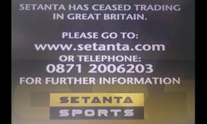 Setanta goes off air