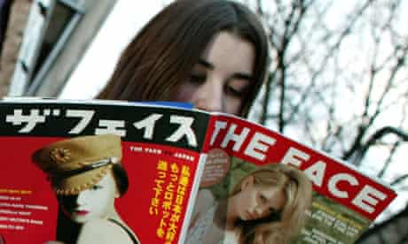 A teenager reading the Face