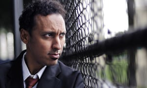 Aasif Mandvi in in Manhattan's upper west side
