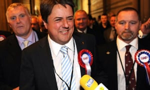 BNP leader Nick Griffin after the 2009 European elections