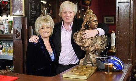 EastEnders: Barbara Windsor and Boris Johnson