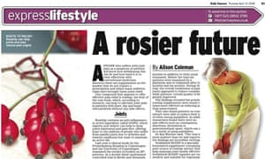 Daily Express lifestyle piece mentioning Rozip supplement