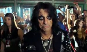 Alice Cooper in a Sony TV ad