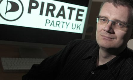 DO NOT REUSE Andrew Robinson, leader of the Pirate Party UK