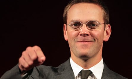 James Murdoch gets ready to deliver the MacTaggart lecture