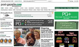 Pitsburgh Post-Gazette website