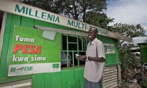 M-pesa money transfer service, Kenya