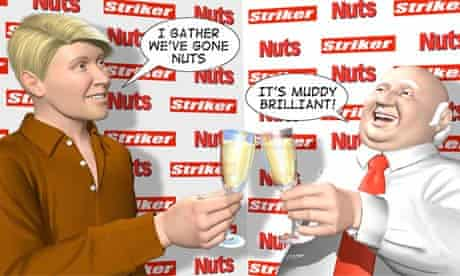 Striker signed up by Nuts magazine