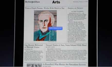 iPad new york times arts