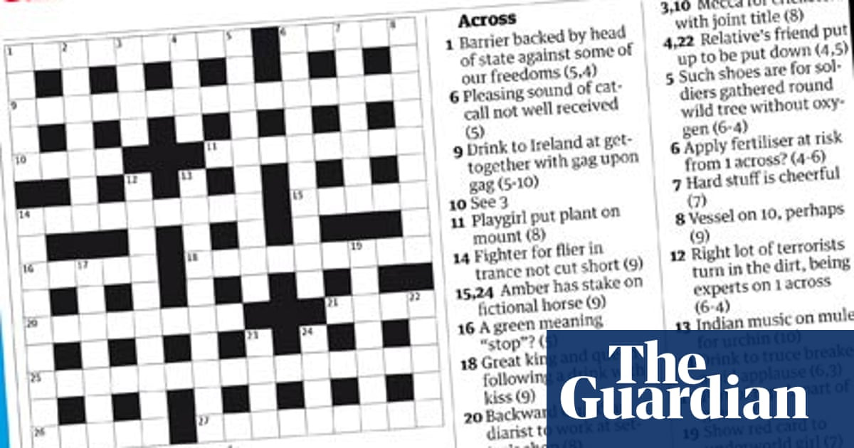 Cross Words In The Crossword The Guardian The Guardian