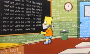 Banksy's The Simpsons title sequence