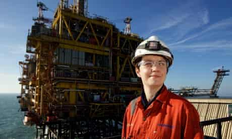 Gas rig worker Louise Ford