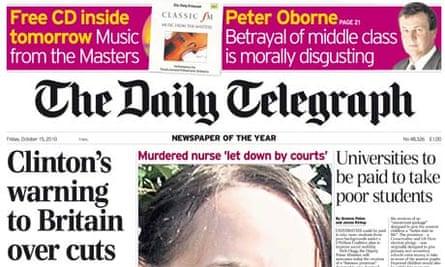 Daily Telegraph - October 2010