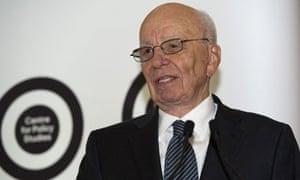 Rupert Murdoch delivering Thatcher lecture