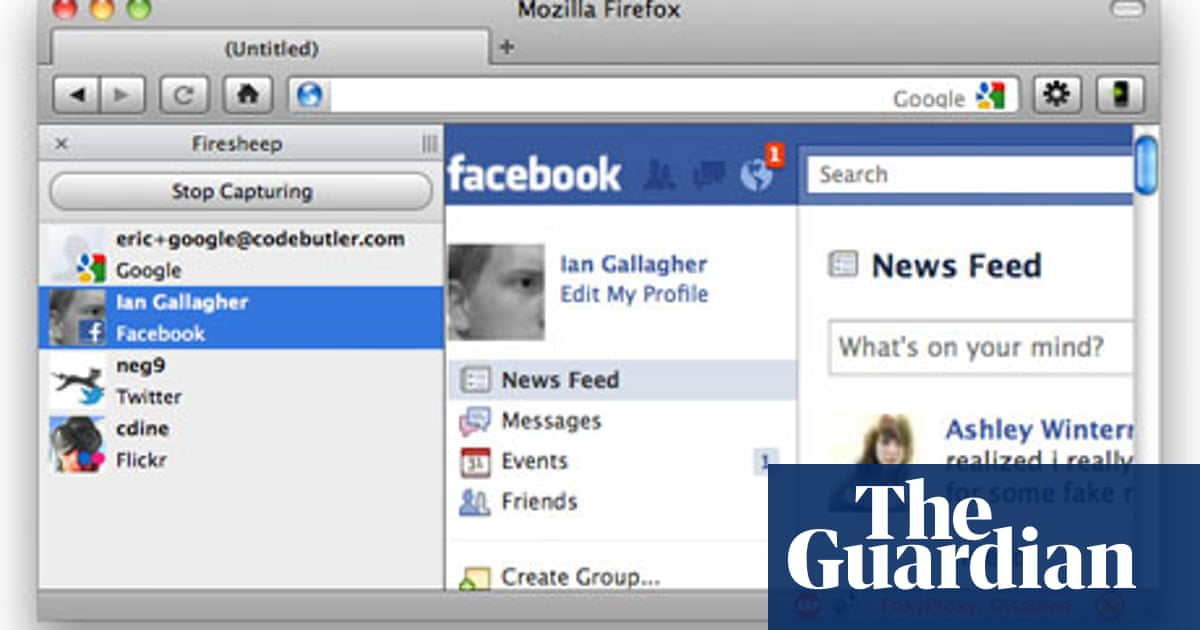 Firefox extension reveals Facebook and Twitter logins