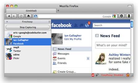 Firefox extension Firesheep