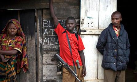 Congolese fighters from the Mai-Mai militia