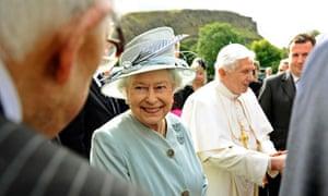 Queen Elizabeth II and Pope Benedict XVI