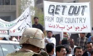 Anti-US demonstration in Baghdad, 2003